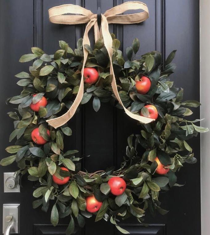 Spring Apple Wreath