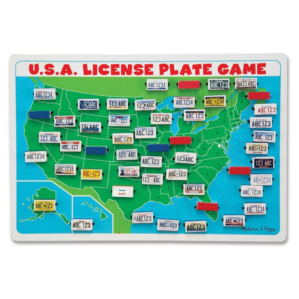 Melissa & Doug Flip to Win Travel License Plate Game