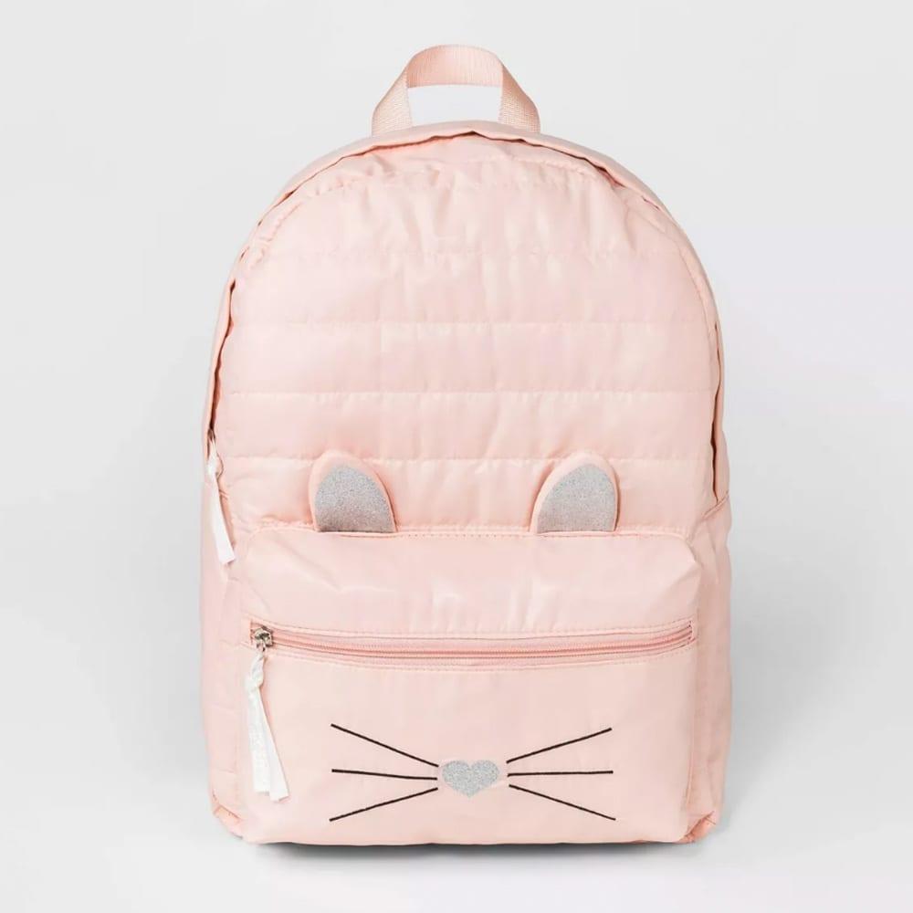 Girls' Cat Puffy Backpack - Cat & Jack™ Peach