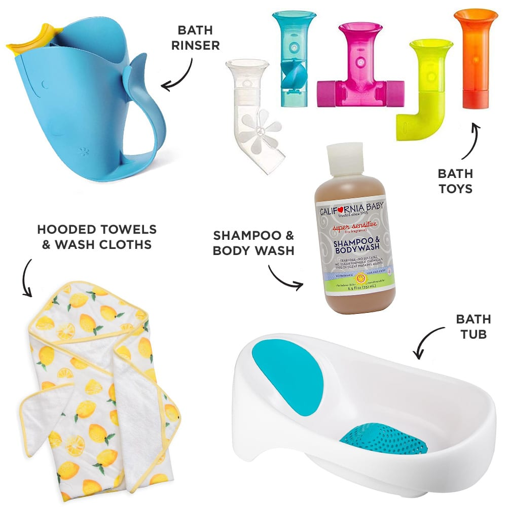 Baby Registry Bath time Must-Haves