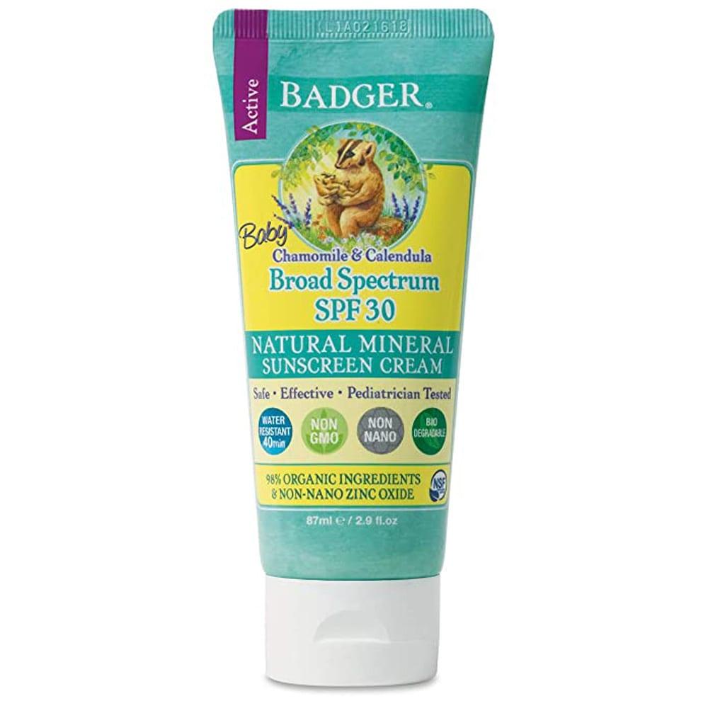 Badger Broad Spectrum Natural Mineral Sunscreen Cream
