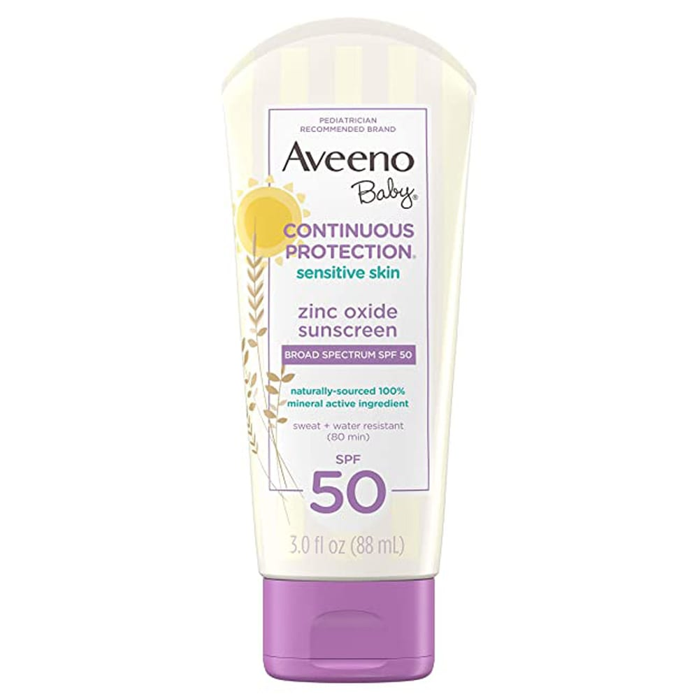Aveeno Baby Continuous Protection sensitive skin zinc oxide sunscreen