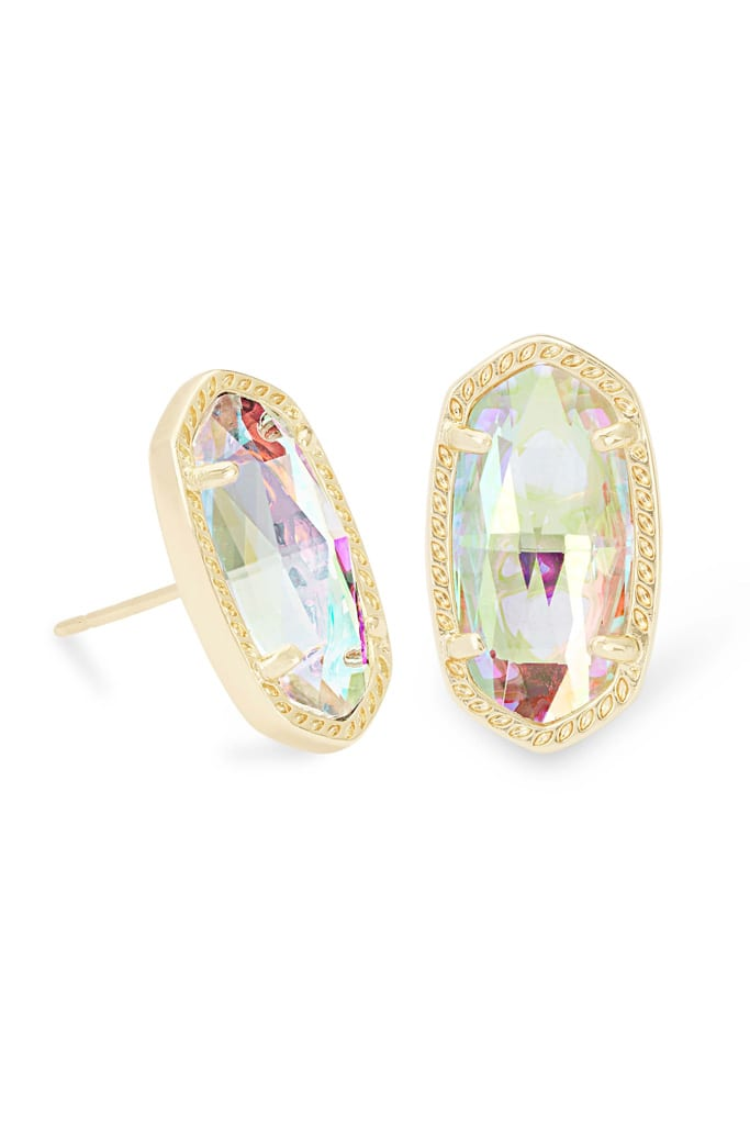 Ellie Gold Stud Earrings In Dichroic Glass from Kendra Scott