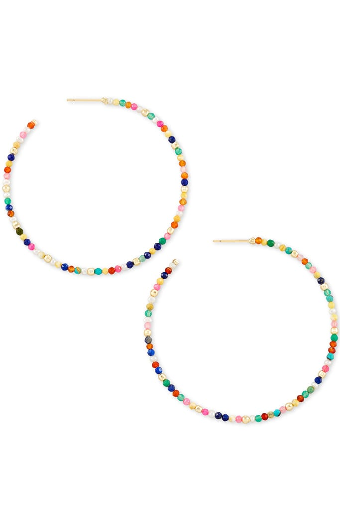 Scarlet Gold Hoop Earrings In Multi from Kendra Scott