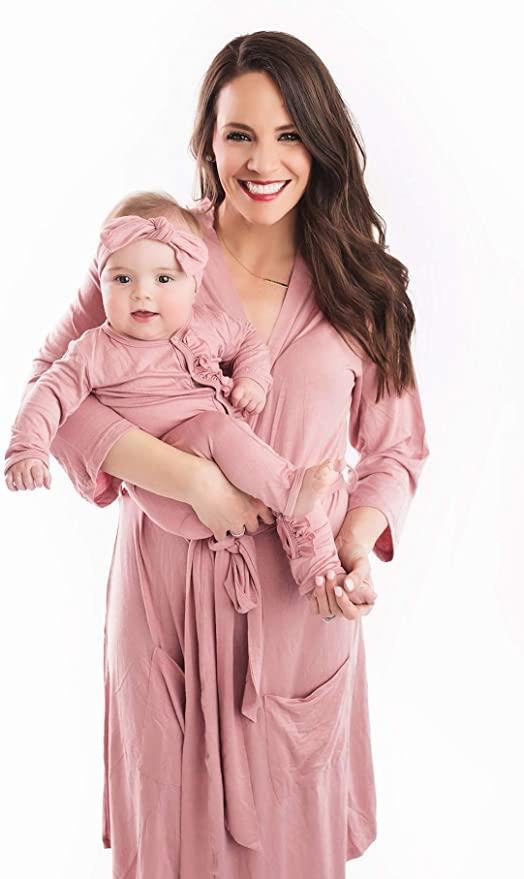 Posh Peanut Maternity Robe for Hospital - Labor and Delivery Nursing Pregnancy Robe