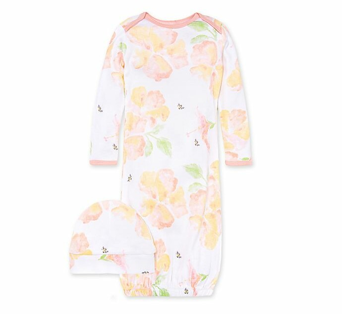2 Day Ship Going Home Gown Blush Floral infant gown