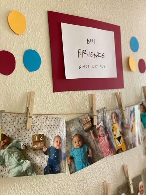 1 year olds birthday banner with pictures