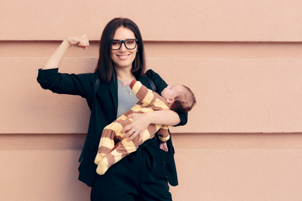 Female role model being a strong mom and an entrepreneur