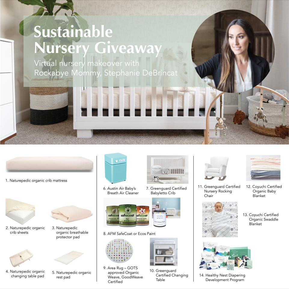 Sustainable Nursery Gift Graphic with Naturepedic