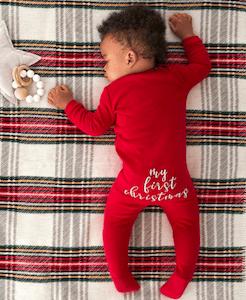 Pottery Barn My First Christmas Nursery Pajamas