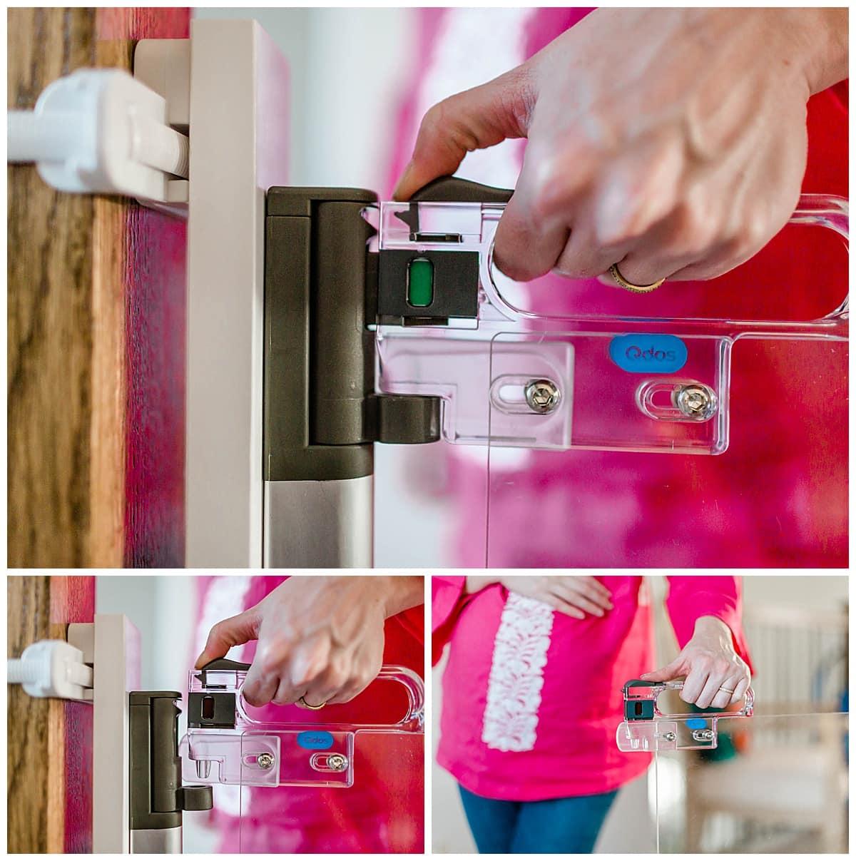 Qdos Crystal® Designer Baby Gate, Hardware Mount