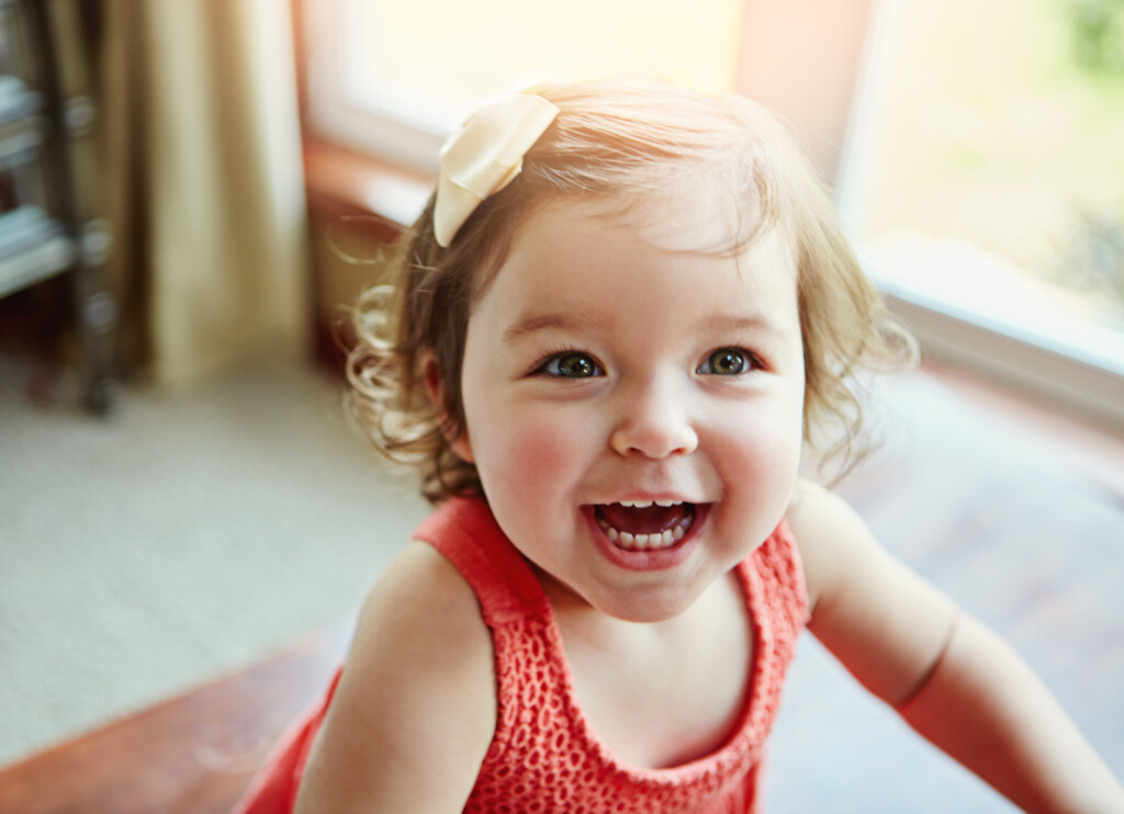 Shot of an adorable little girl at home