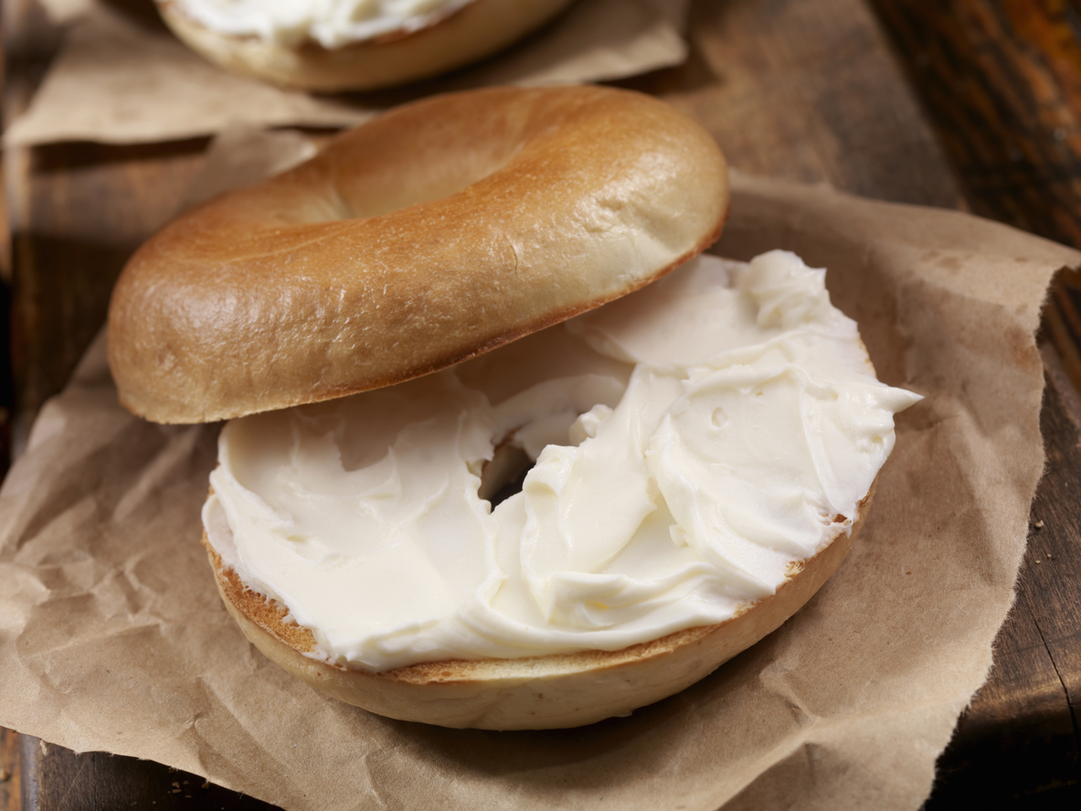 New York New Bagels with Cheese Cream