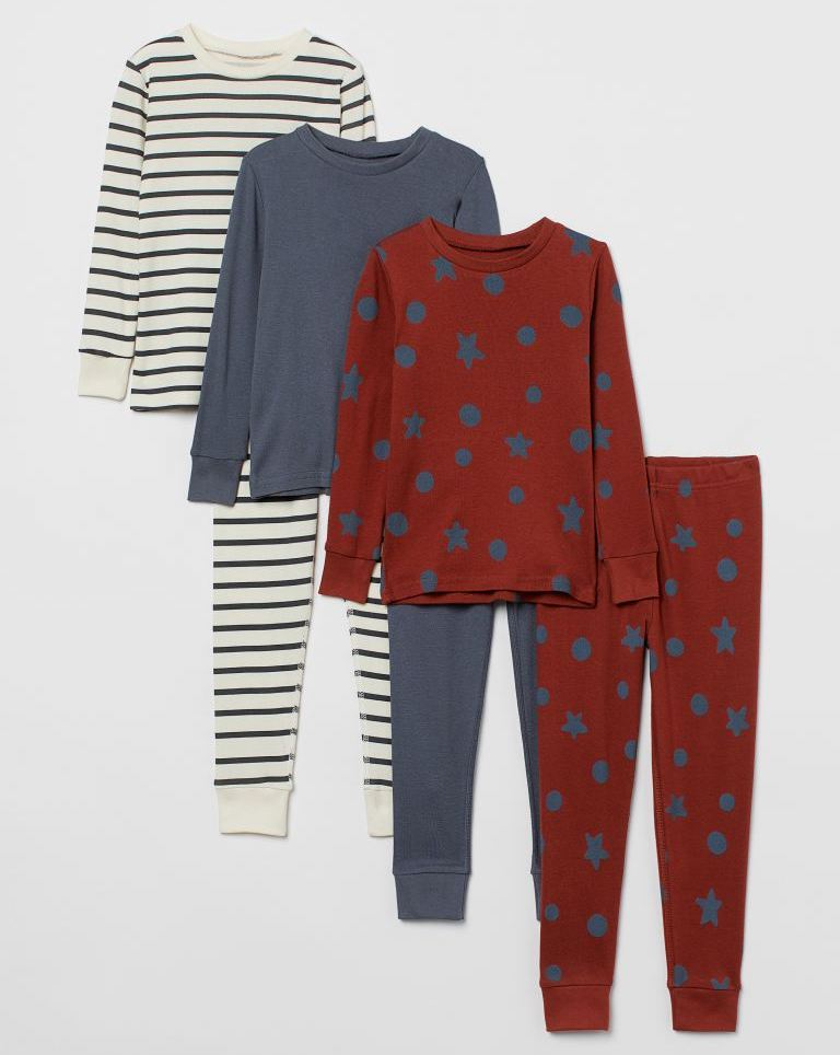 3-pack Cotton Pajamas for Kids from H&M